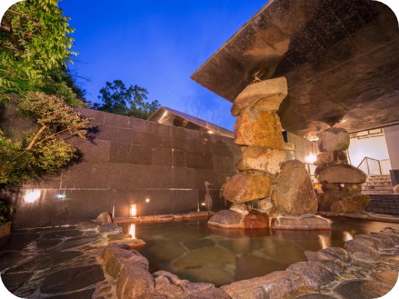 湯郷グランドホテルの露天風呂